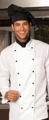 Kochmütze blanko <br> passend zur Schürze <br> Profi-Arbeitskleidung <br> Farbe schwarz