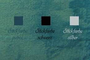 Kuscheldecke mit Namen 150 x 200 cm, petrol, Stickfarbe/Name zur Auswahl